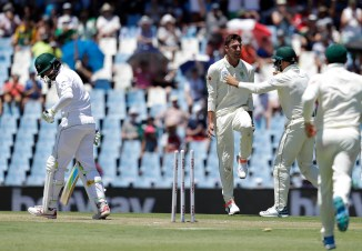 Duanne Olivier six wickets South Africa Pakistan Boxing Day Test 1st Test Day 1 Centurion cricket