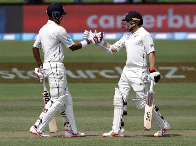 Jeet Raval Tom Latham 74 New Zealand Sri Lanka Boxing Day Test 2nd Test Day 2 Christchurch cricket