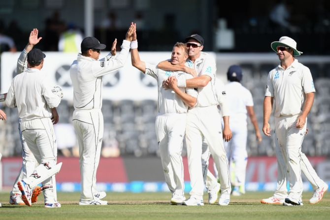 Neil Wagner three wickets New Zealand Sri Lanka Boxing Day Test 2nd Test Day 4 Christchurch cricket