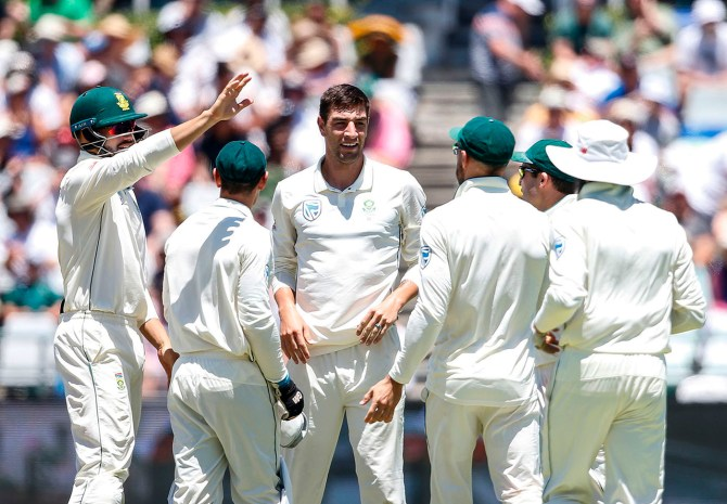 Duanne Olivier four wickets South Africa Pakistan 2nd Test Day 1 Cape Town cricket