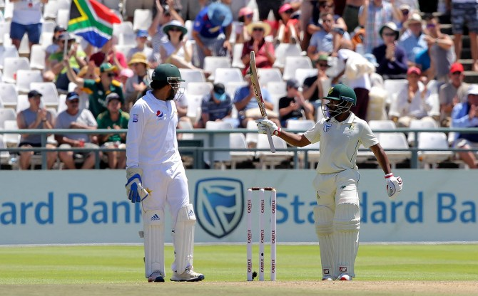 Temba Bavuma 75 South Africa Pakistan 2nd Test Day 2 Cape Town cricket