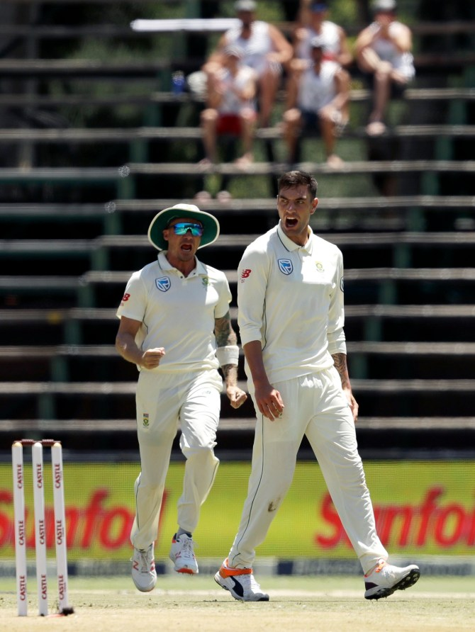Duanne Olivier five wickets South Africa Pakistan 3rd Test Day 2 Johannesburg cricket