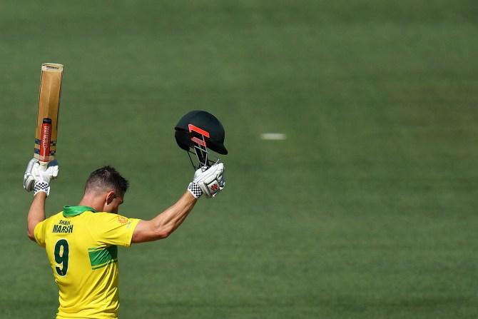 Shaun Marsh 131 Australia India 2nd ODI Adelaide cricket