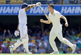 Pat Cummins four wickets Australia Sri Lanka 1st Test Day 1 Brisbane cricket
