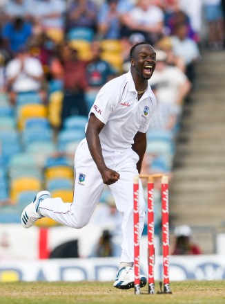 Kemar Roach five wickets West Indies England 1st Test Day 2 Barbados cricket