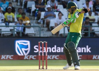 Faf du Plesiss 78 South Africa Pakistan 1st T20 Cape Town cricket
