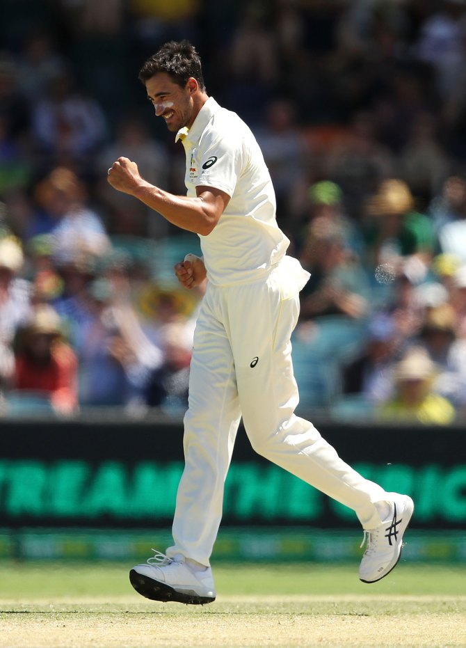 Mitchell Starc five wickets Australia Sri Lanka 2nd Test Day 3 Canberra cricket