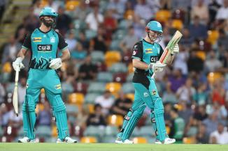 Ben Cutting 81 Max Bryant 71 Brisbane Heat Melbourne Stars Big Bash League BBL 53rd Match cricket