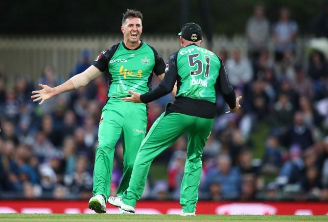 Daniel Worrall four wickets Melbourne Stars Hobart Hurricanes Big Bash League BBL 1st semi-final cricket