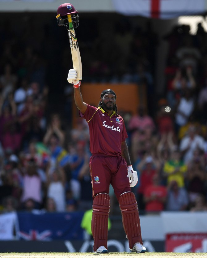 Chris Gayle 135 West Indies England 1st ODI Barbados cricket
