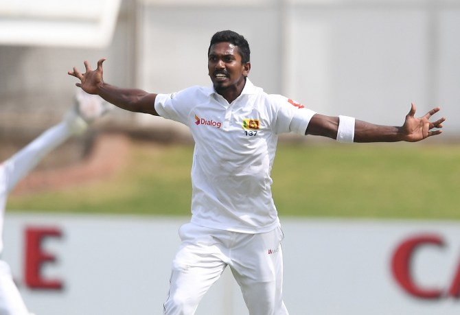 Vishwa Fernando three wickets South Africa Sri Lanka 2nd Test Day 1 Port Elizabeth cricket