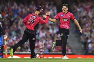 Ben Dwarshuis three wickets Sydney Sixers Adelaide Strikers Big Bash League BBL 45th Match cricket