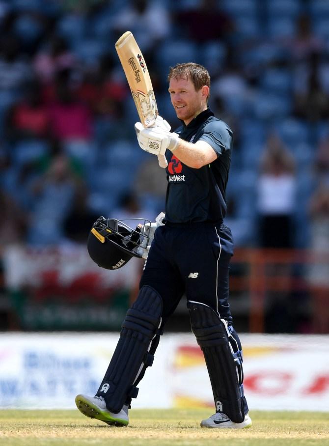 Eoin Morgan 103 West Indies England 4th ODI Grenada cricket