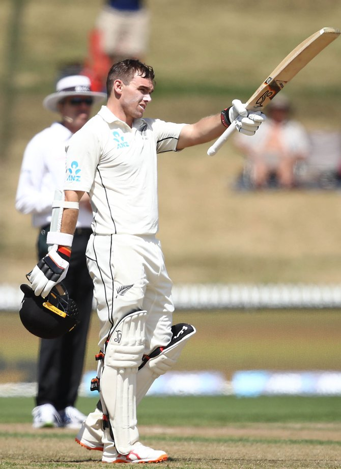Tom Latham 161 New Zealand Bangladesh 1st Test Day 2 Hamilton cricket