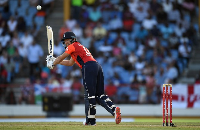 Jonny Bairstow 68 West Indies England 1st T20 St Lucia cricket