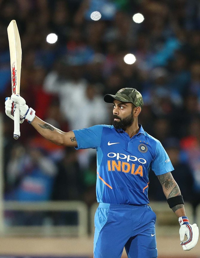 Virat Kohli 123 India Australia 3rd ODI Ranchi cricket
