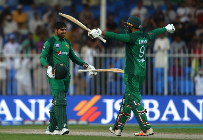 Haris Sohail 101 not out Pakistan Australia 1st ODI Sharjah cricket