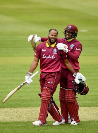 John Campbell and Shai Hope 179 and 170 West Indies Ireland 1st Match ODI tri-series cricket