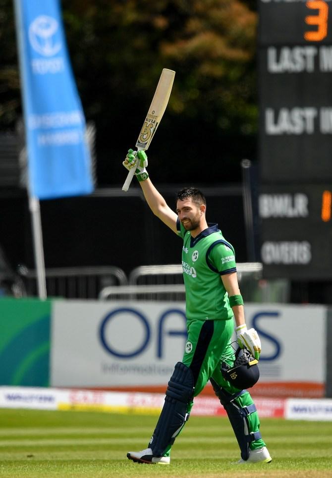 Andy Balbirnie 135 Ireland West Indies ODI tri-series 4th match Dublin cricket