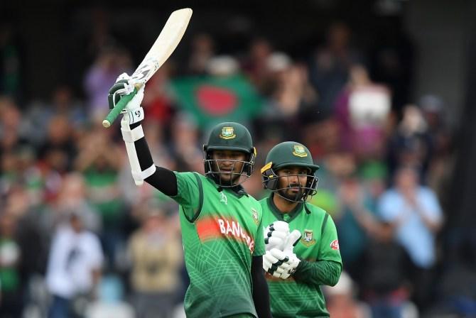 Shakib Al Hasan 124 not out Bangladesh West Indies World Cup 23rd Match Taunton cricket