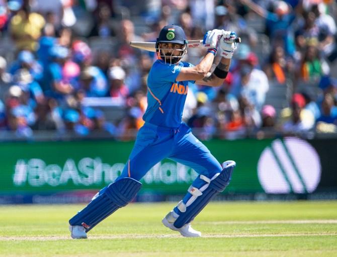 Virat Kohli 72 India West Indies World Cup 34th Match Manchester cricket