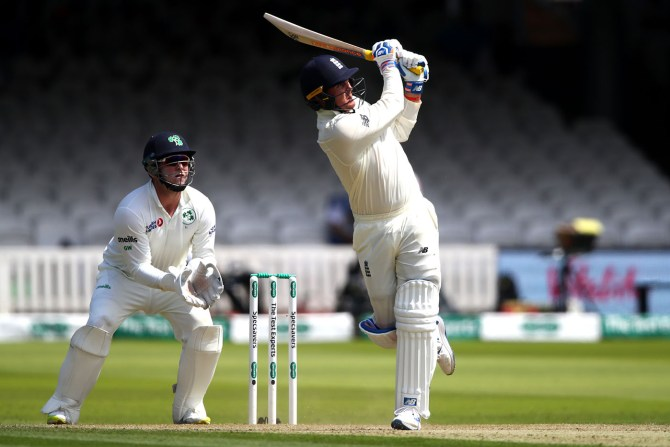 Jason Roy 72 England Ireland Only Test Day 2 Lord's cricket