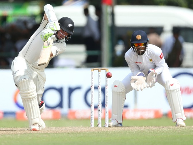 Tom Latham 111 not out Sri Lanka New Zealand 2nd Test Day 3 Colombo cricket