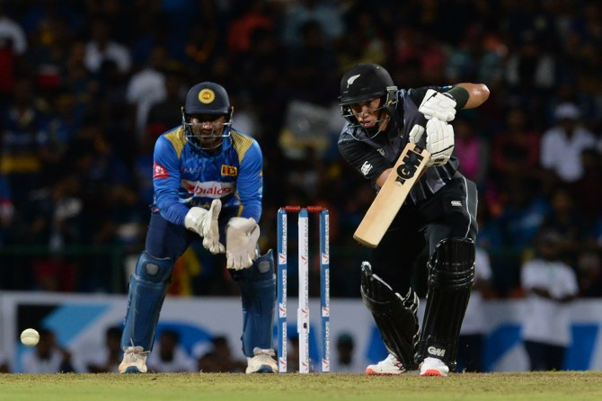 Ross Taylor 48 Sri Lanka New Zealand 1st T20 Pallekele cricket