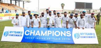 India beat West Indies by 257 runs 2nd Test Day 4 Jamaica cricket