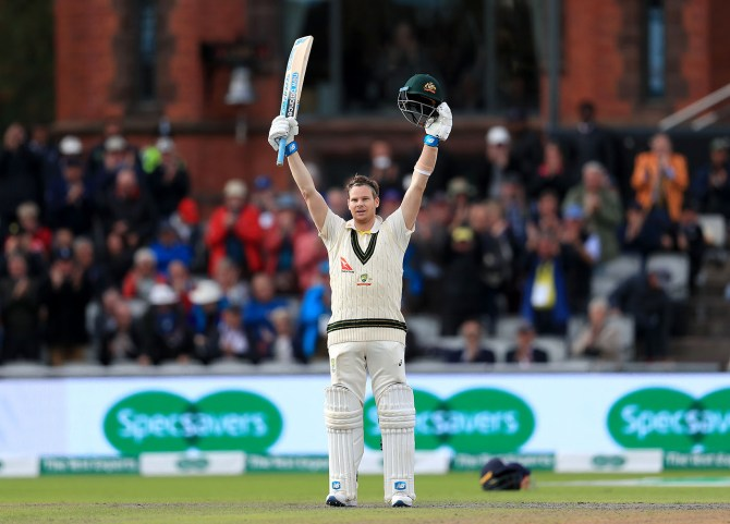Steve Smith 211 England Australia 4th Ashes Test Day 2 Manchester cricket