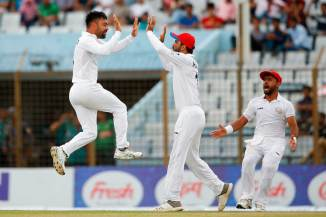 Rashid Khan six wickets Afghanistan beat Bangladesh by 224 runs Only Test Day 5 Chattogram cricket