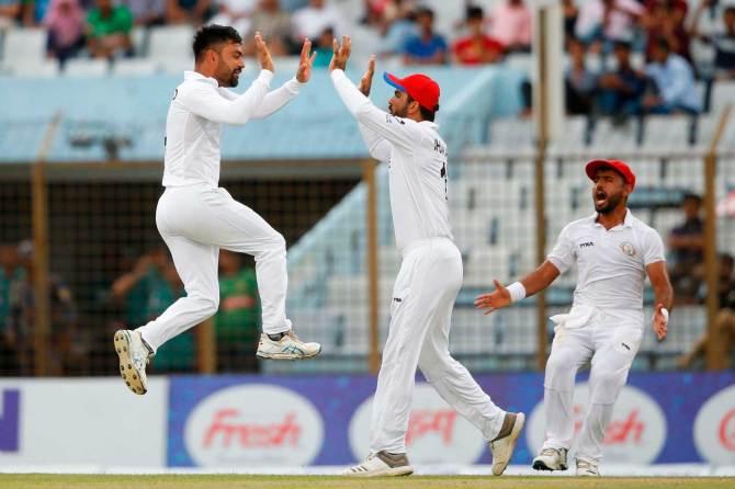 Rashid Khan six wickets Afghanistan beat Bangladesh by 224 runs Only Test Day 5 Chattogram cricket