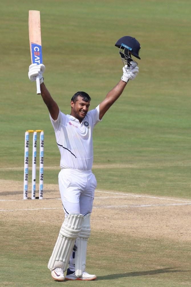 Mayank Agarwal 215 India South Africa 1st Test Day 1 Visakhapatnam cricket