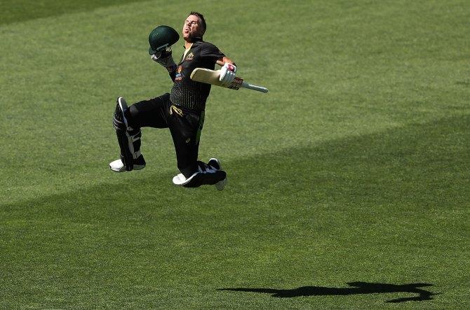 David Warner 100 not out Australia vs Sri Lanka 1st T20 Adelaide cricket