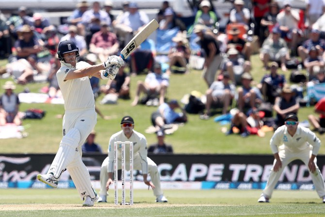 Joe Denly New Zealand England 1st Test Day 1 Mount Maunganui cricket