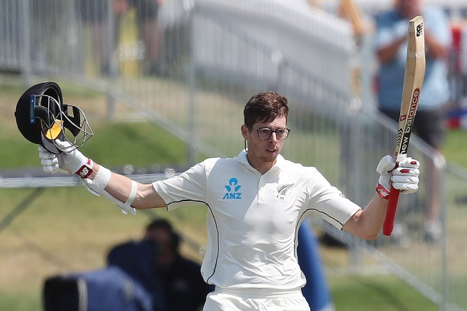 Mitchell Santner 126 New Zealand England 1st Test Day 4 Mount Maunganui cricket