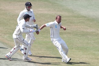 Neil Wagner five wickets New Zealand England 1st Test Day 5 Mount Maunganui cricket