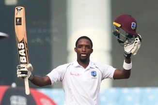 Sharmarh Brooks 111 Afghanistan West Indies Only Test Day 2 Lucknow cricket