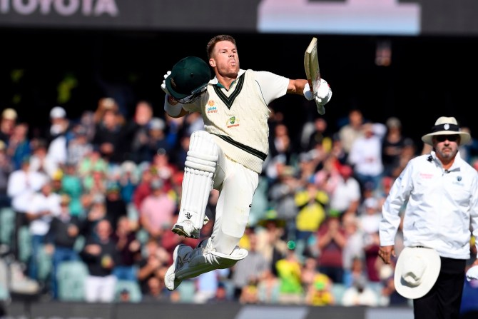 David Warner 335 not out Australia Pakistan 2nd Test Day 2 Adelaide cricket