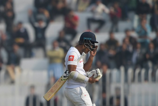 Dimuth Karunaratne doesn't regret his decision to bat first in the first Test against Pakistan Rawalpindi cricket