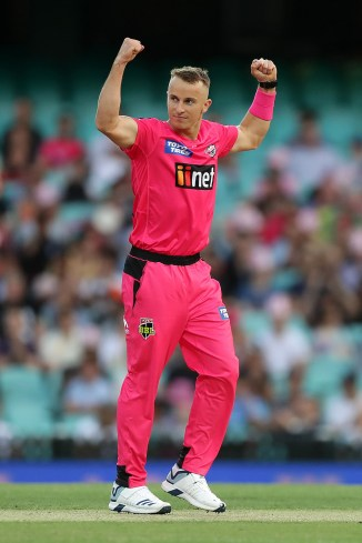 Tom Curran 43 not out and one wicket Sydney Sixers Perth Scorchers Big Bash League BBL 12th Match cricket