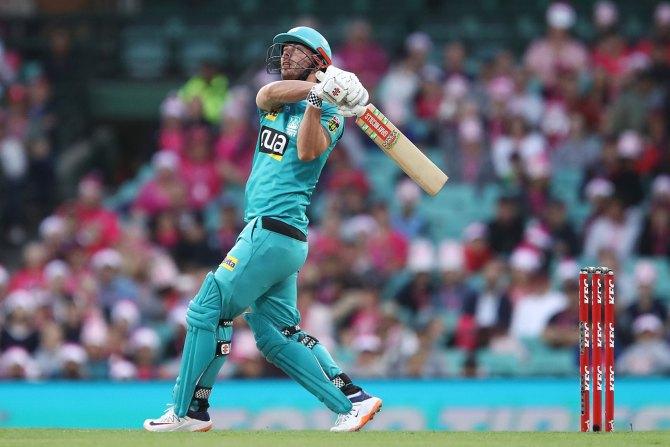 Chris Lynn 94 Brisbane Heat Sydney Sixers Big Bash League BBL 9th Match cricket