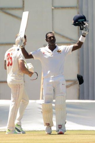 Angelo Mathews 200 not out Zimbabwe Sri Lanka 1st Test Day 4 Harare cricket