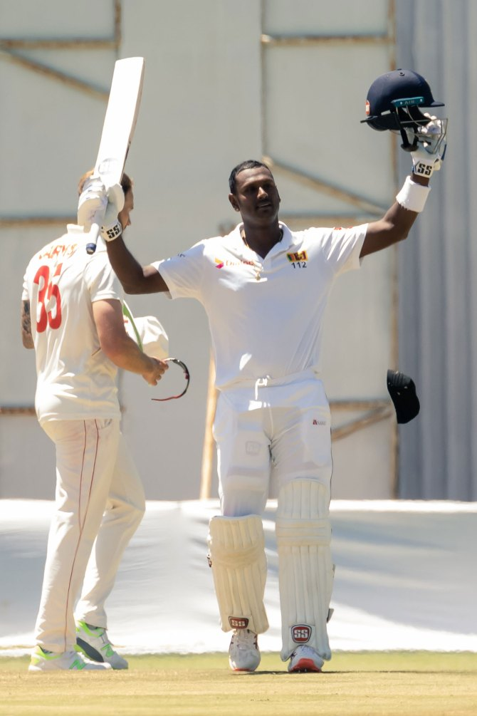 Angelo Mathews 200 not out Zimbabwe Sri Lanka 1st Test Day 4 Harare cricket