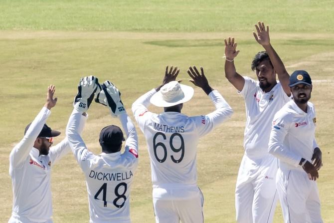 Suranga Lakmal four wickets Zimbabwe Sri Lanka 1st Test Day 5 Harare cricket