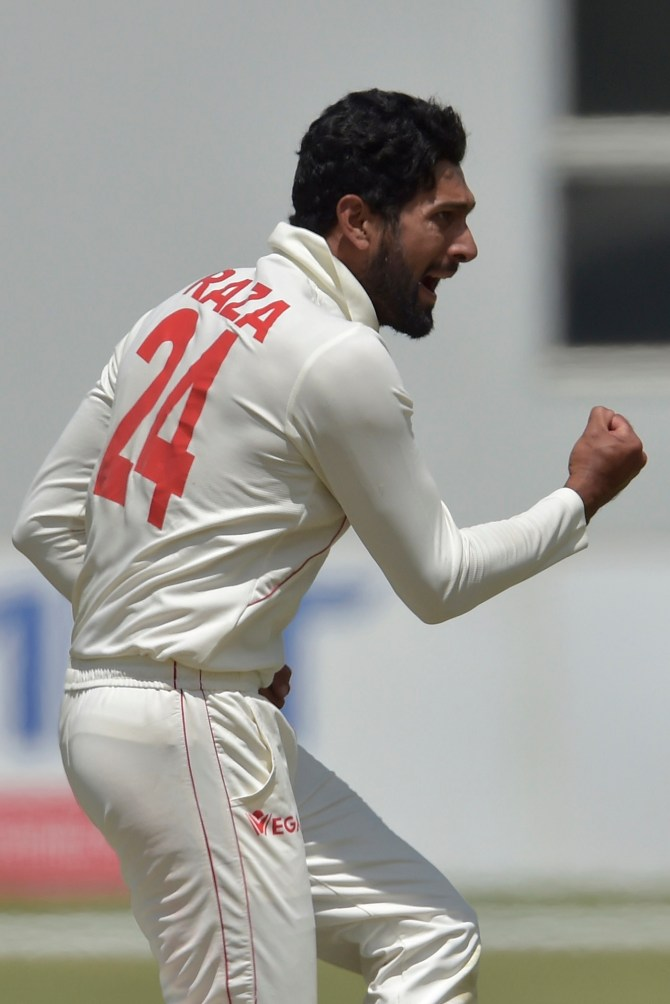 Sikandar Raza seven wickets Zimbabwe Sri Lanka 2nd Test Day 3 Harare cricket