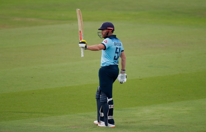 Jonny Bairstow 82 England Ireland 2nd ODI Southampton cricket