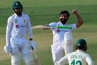 Fawad Alam said it was an amazing feeling to score a Test century on his home ground