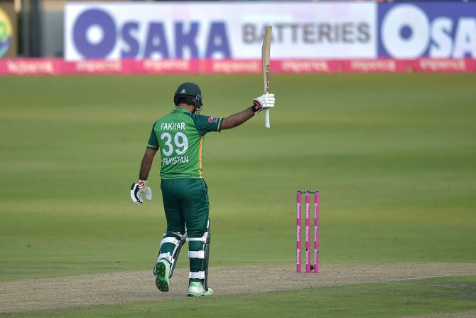 Younis Khan said he was honoured to see it live after Fakhar Zaman scored 193