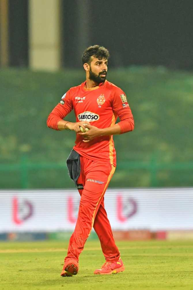Pakistan spinner Shadab Khan said when he gets kicked out of Islamabad United he will join Lahore Qalandars